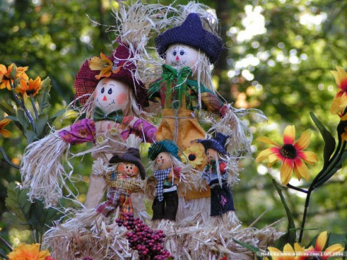This scarecrow may look happy, but inside he is all tied-up in knots in fear of being laid off.