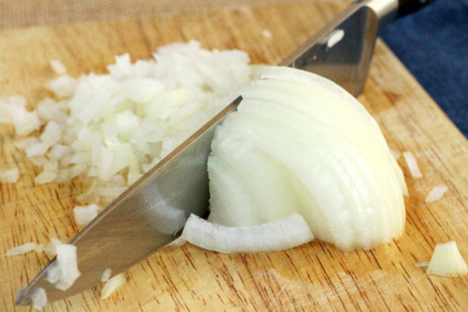 Chop an onion.