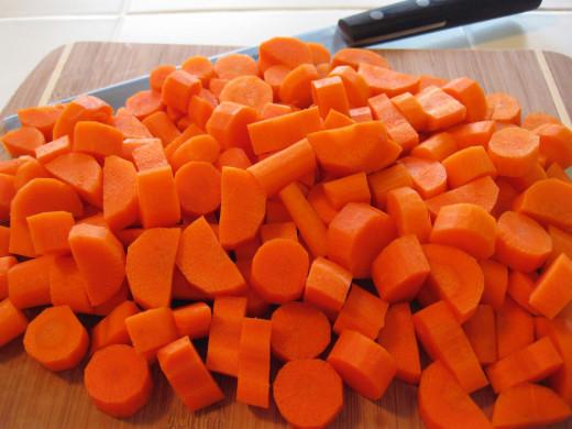 Chop a carrot.