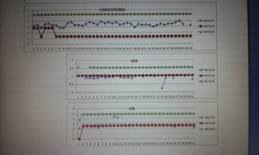 Sample blood chemistry basing on actual test results.