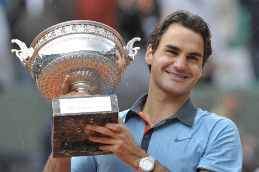 with his French Open trophy