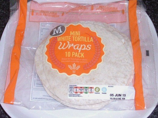Mini flour tortilla wraps