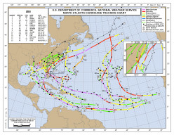 Hurricane Tracks - Can Early Storms Help Predict Later Ones?