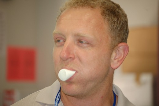 Mouthful of marshmallows