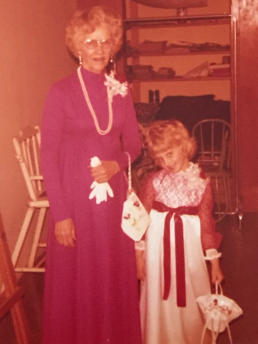 The author with her grandma, before Roger's wedding.  She doesn't *look so tough, does she?