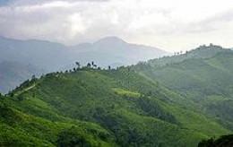 Mountainous area in northern Thailand near the Burmese border