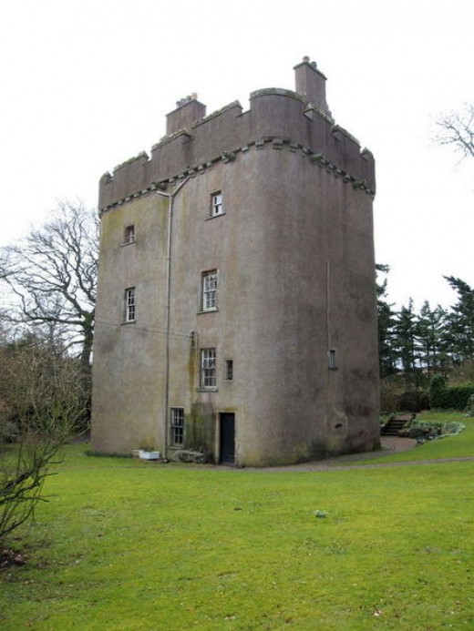 Cranshaws Castle is inhabited by the Douglas Family...and also said to be haunted by a Brownie!