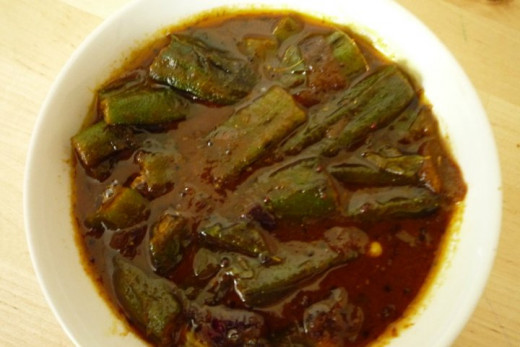 Bhindi (Okra) masala curry
