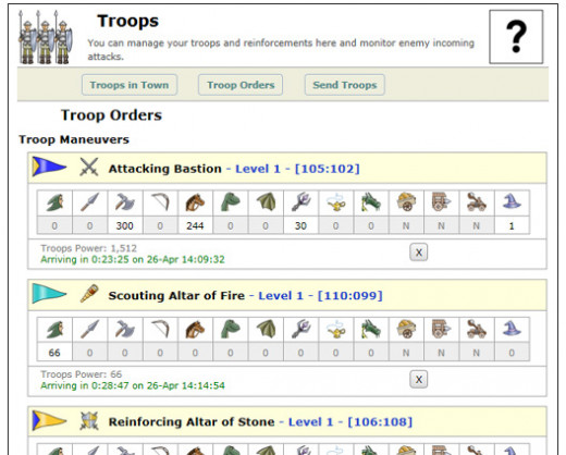 Screenshot of Troop Orders