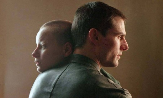 "Samantha Morton (left) & Tom Cruise in ""Minority Report"""
