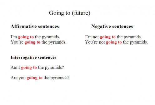 Going to (grammar)