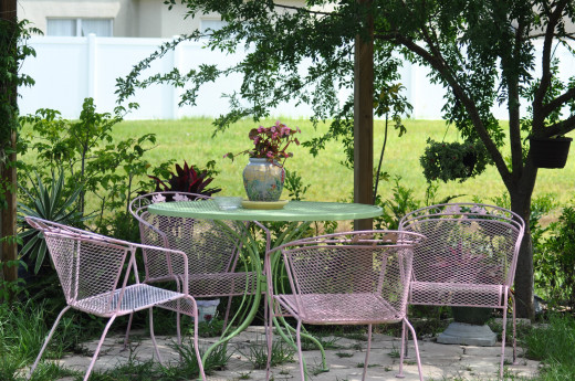 Your garden can be your special place for reading and relaxing.