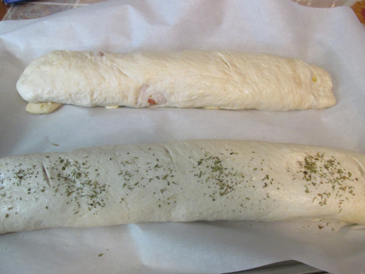Rolled and ready for the oven.