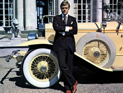 Jay Gatsby's serious pose