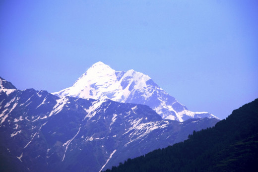 Nanda devi as seen from the trek route to Devgram