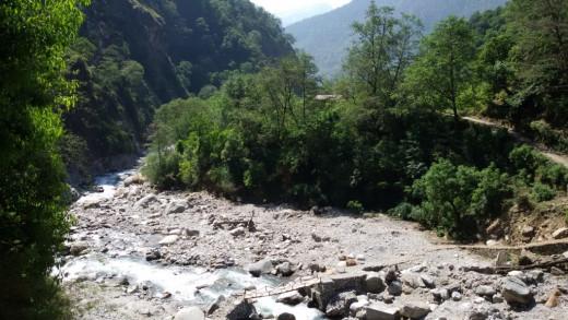 Kalpa Ganga near Kalpeswar