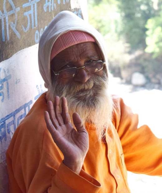 God Bless : a sadhu at Kalpeswar