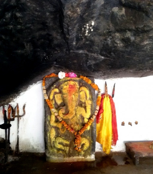 The stone idol of Lord Ganesha