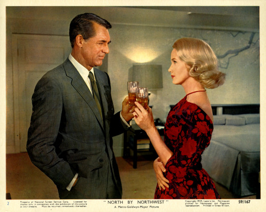"Cary Grant and Eva Marie Saint.""I wish I could be Cary Grant,"" a male friend was reputed to have told him at about this time. And then the Bristol, England native, whose birth name was Archibald Leach, famously replied: ""I do too!"""