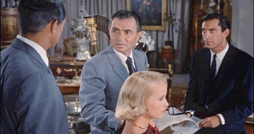 The villain Vandamm was played by the sinister honey-voiced James Mason with Martin Landau, at right, one of his henchmen.