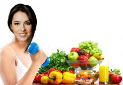 Staying fit by eating healthy foods