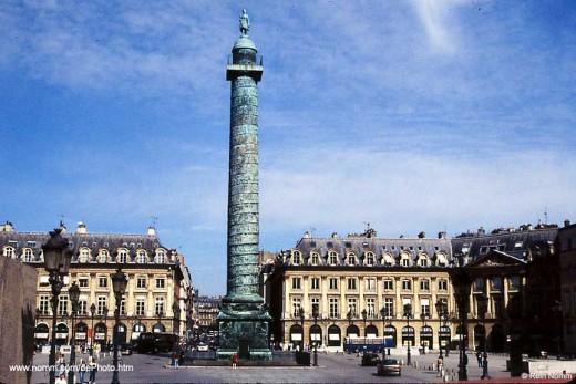 The Place Vendôme Column-Paris