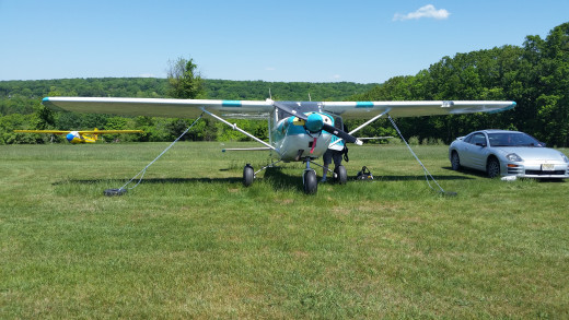 The first small plan that I've ever been in, and flown!