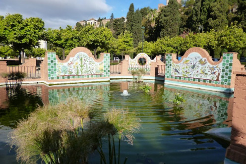 A beautiful park in Malaga.