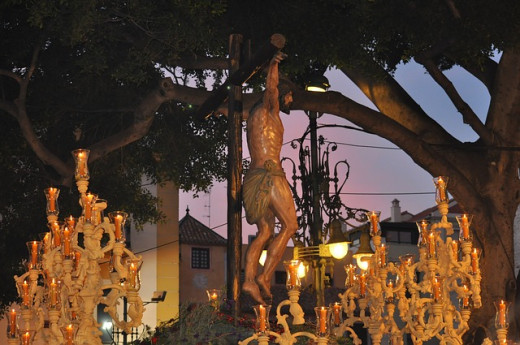 A typical Easter display during Holy Week.