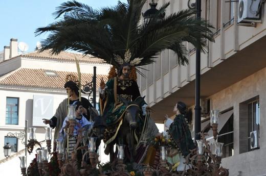 Jesus Christ riding the Donkey on Palm Sunday