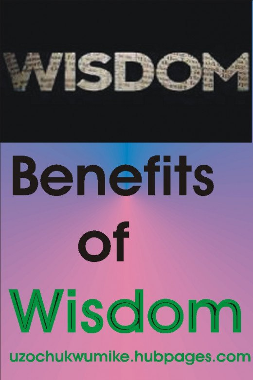 The picture introduces the topic. It illustrates the benefits of wisdom.
