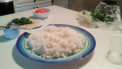let the rice cool before assembling