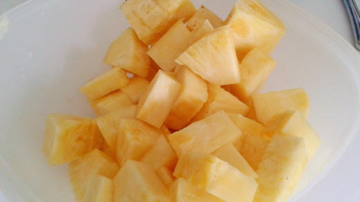 perfectly sliced, fresh pineapple with no worries about bacterial contamination