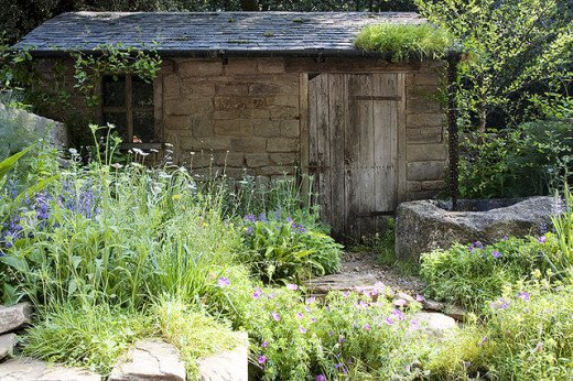 Just add lavender plants and stones around an old shack! Put some music on and voila!