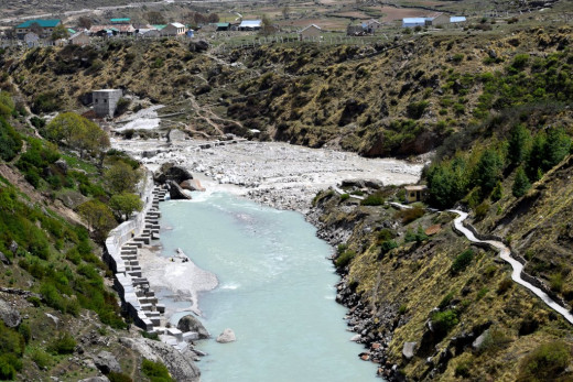Keshav Prayag : the blue river is Saraswati