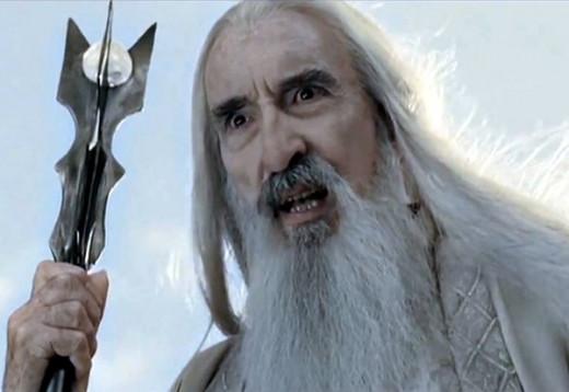 Christopher Lee as Saruman (aka The White Wizard)