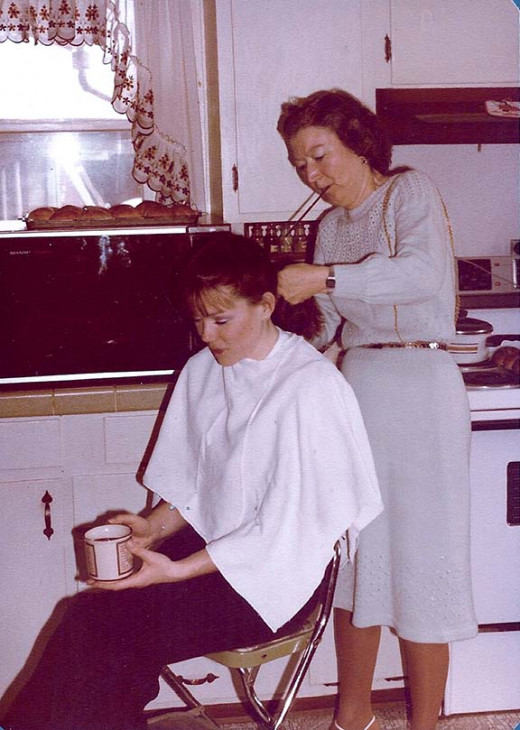 My mother was the barber and beautician, as her mom was before her.