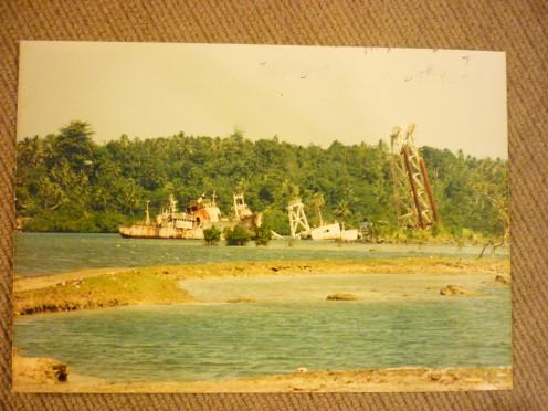 Ship graveyard 1990 Pohnpei