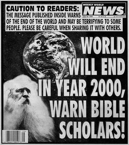 While celebrating the new Millennium I remember dread, thinking the Rapture would happen at midnight.