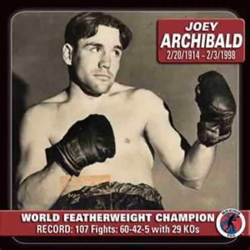 Joey Archibald is the former king of the featherweights (126 pounds).