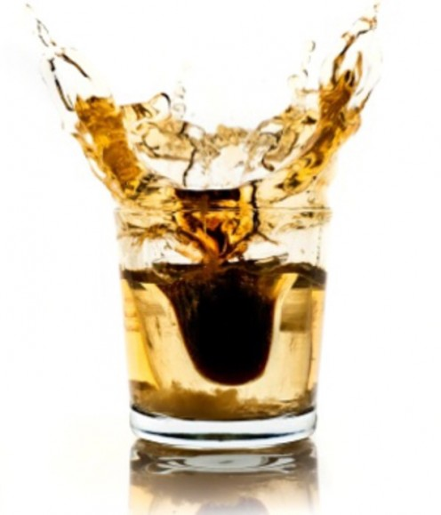 A feisty shooter of Jagermeister is dropped into a double shot of Redbull, and slammed back for the ultimate buzz!! Liquid courage at its finest!!