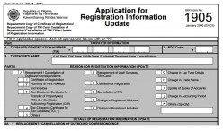 BIR Form 1905: RDO Update