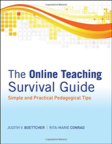 The Online Teaching Survival Guide provides an overview of theory-based techniques for online teaching or for a technology-enhanced course, including course management, social presence, community building, and debriefing.