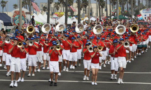 Huntington Beach High School Marching Band.