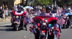A motorcycle club is always appreciated to help celebrate the 4th.