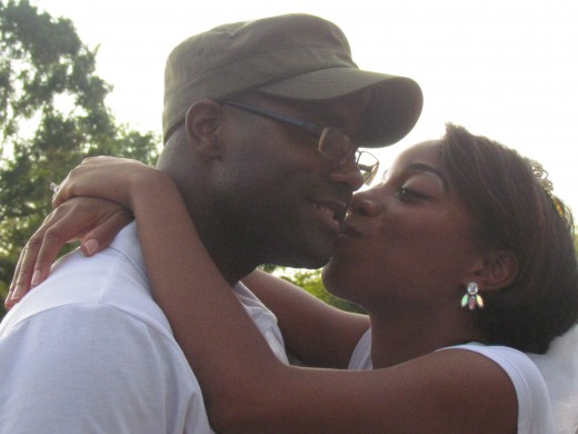 My daughter Wanisha and her future husband Moe, celebrated at the bridal shower.