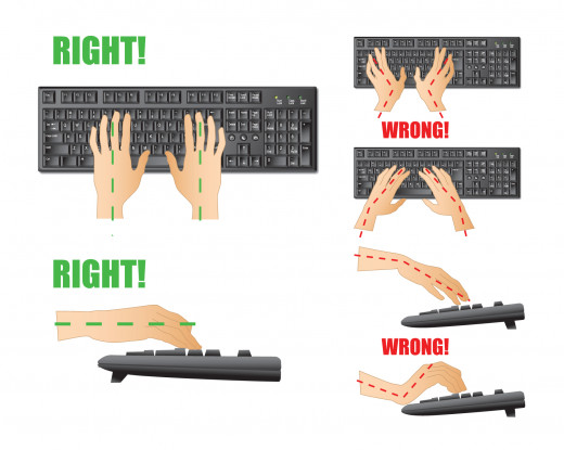 Keep your hands at level with the keyboard