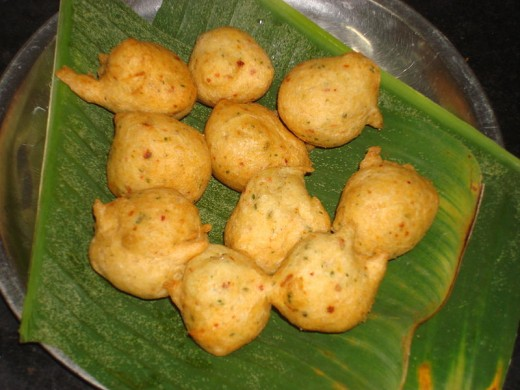Vadas after frying