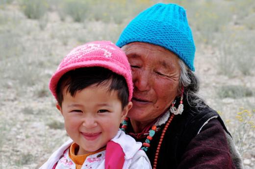 A grandma in Ladakh