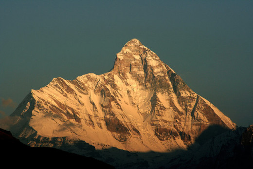 The view of Nanda Devi from Auli